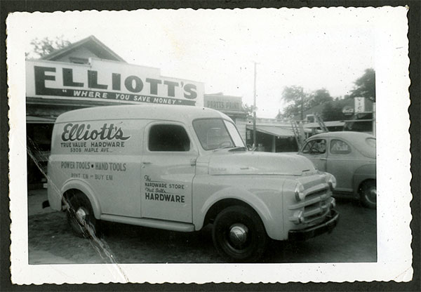 Historical Elliott's Delivery Truck
